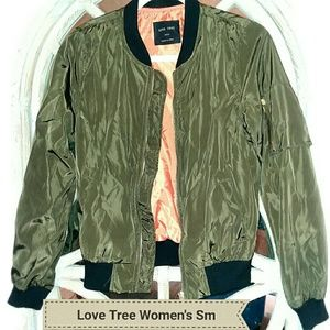 Love Tree Women's Small Military Green Jacket